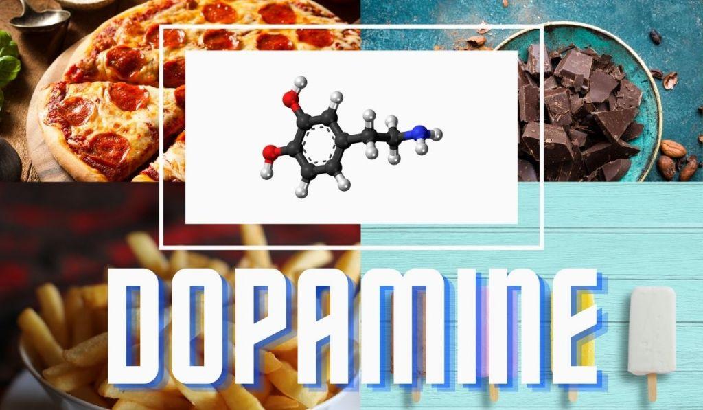Pizza, chocolate, chips, ice cream soda and cookies stimulate dopamine.